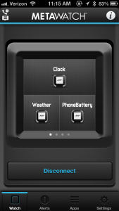 Configuration screen for widgets