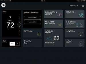 EcoBee3 iPad app