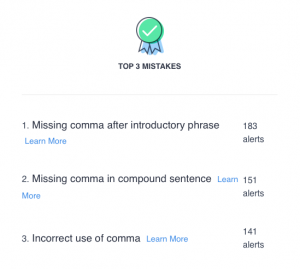My top 3 issues that Grammarly fixed
