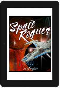 Space Rogues final Kindle tablet cover