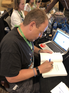 My First Signing, at a conference no less
