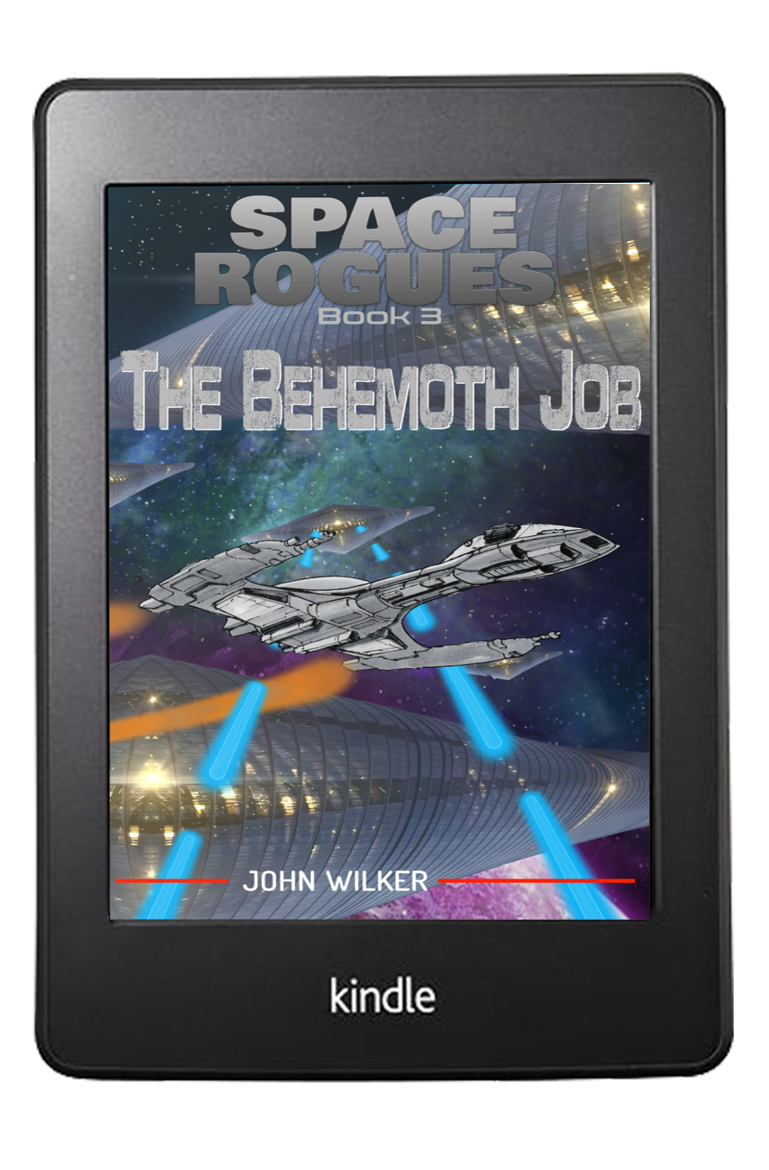 Space Rogues book 3. The Behemoth Job Cover on Kindle