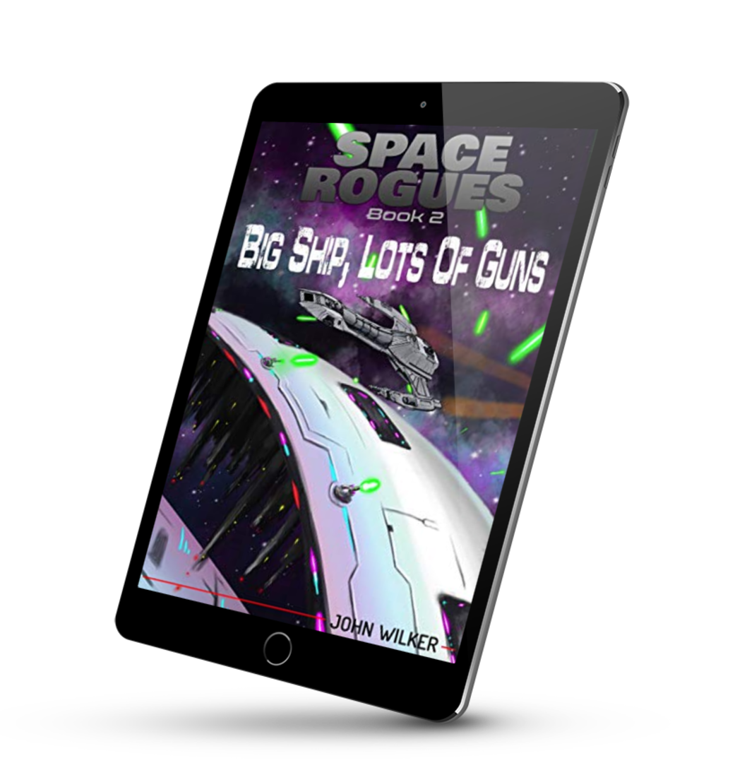 Space Rogues book 2. Big Ship, Lots of Guns on an iPad